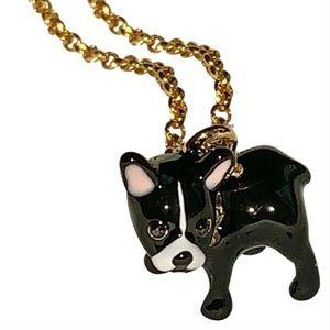 Kate Spade French Bulldog Necklace